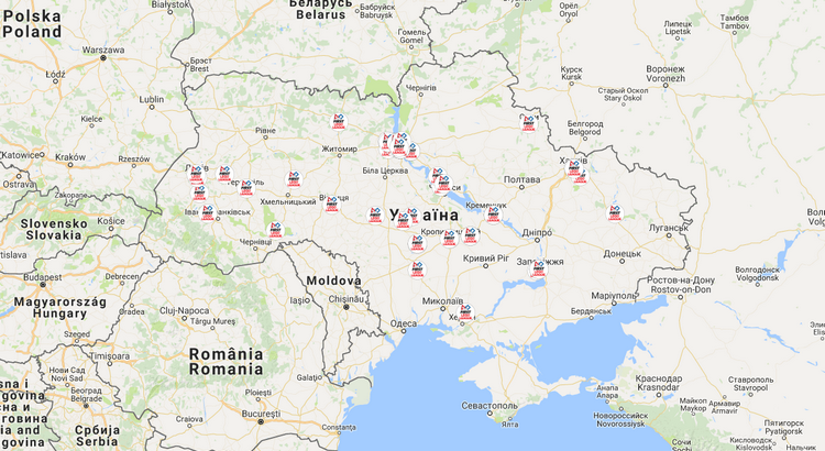 FIRST LEGO League Ukrainian teams map